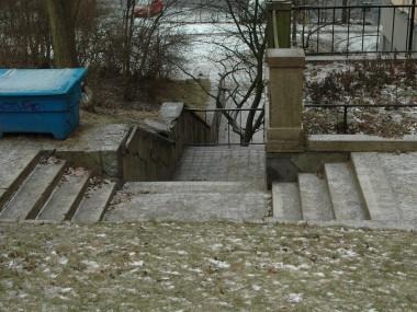 Hedbergs trappa från Gruvbacken