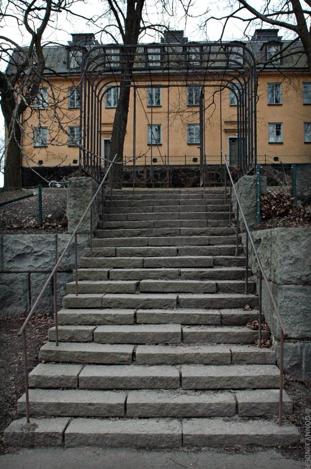 Trappa mot Gröna Gården