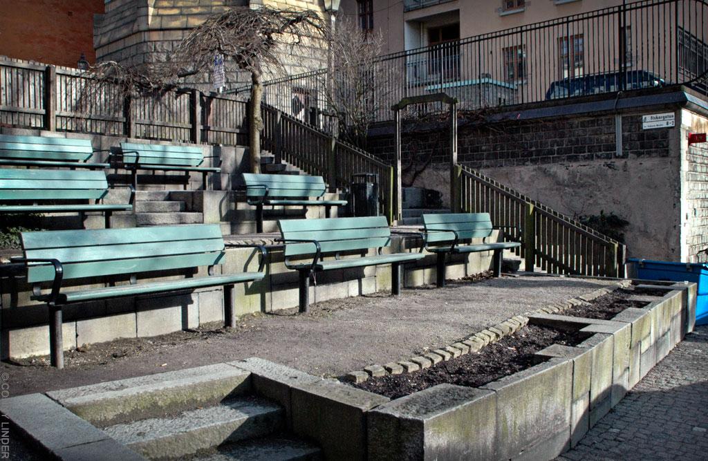 Trappa mellan Mosebacke torg och Fiskargatan
