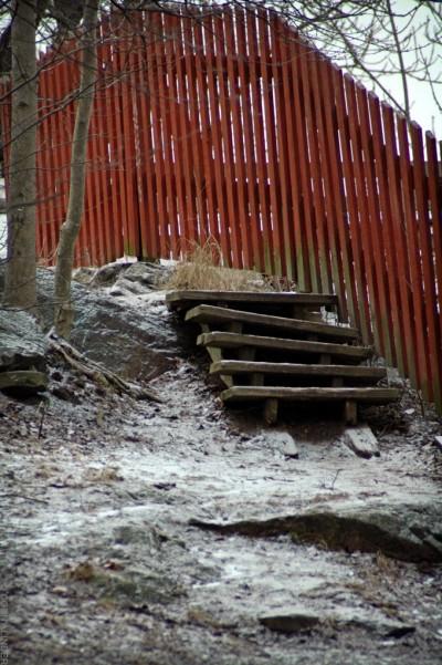 Hembyggd trappa.