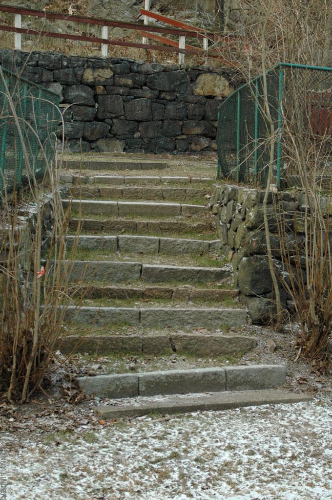 Där trappan slutar spelades minigolf en gång i tiden, 11 steg.