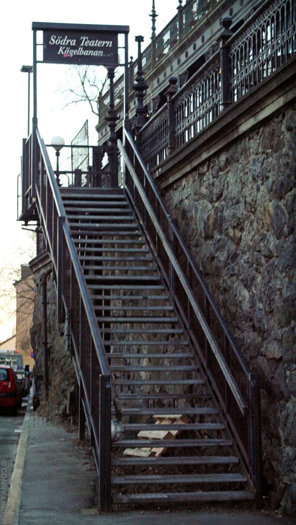 Trappan till Södra teatern/Kägelbanan