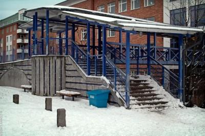 Entré till Tullgårdsskolan från Tullgårdsparken