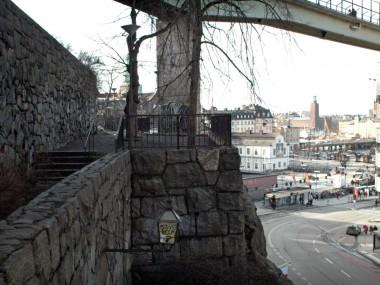 Ingång från Harald Lindbergs trappor.