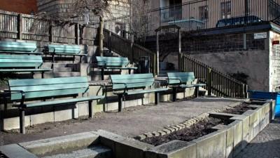 Trappa mellan Mosebacke Torg och Fiskargatan.